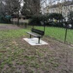 Installation of park benches